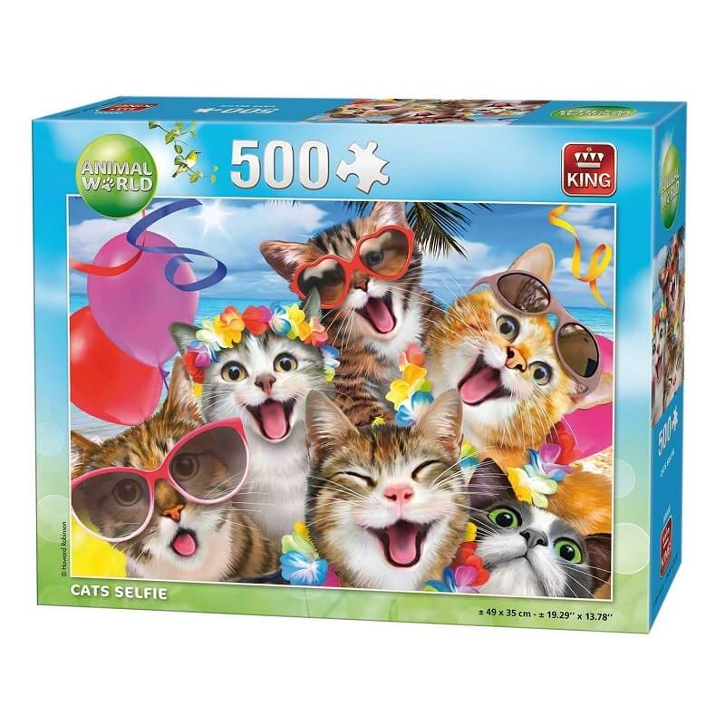 Puzzle selfie des chats 500 pieces