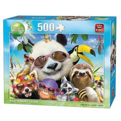 Puzzle Selfie des animaux à la plage de 500 pièces