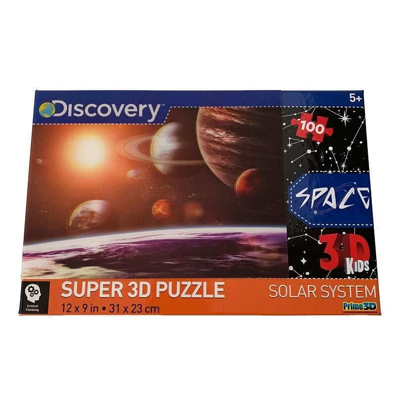 Puzzle systeme solaire image 3d 100 pieces