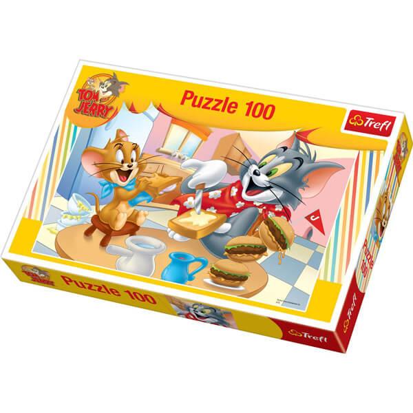 Puzzle tom et jerry 100 pieces idee cadeau enfant trefl