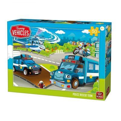 Puzzle véhicules de police de 50 pièces