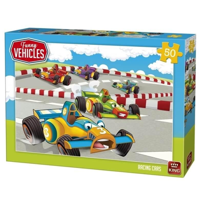 Puzzle voitures de courses 50 pieces enfant 4 ans et plus