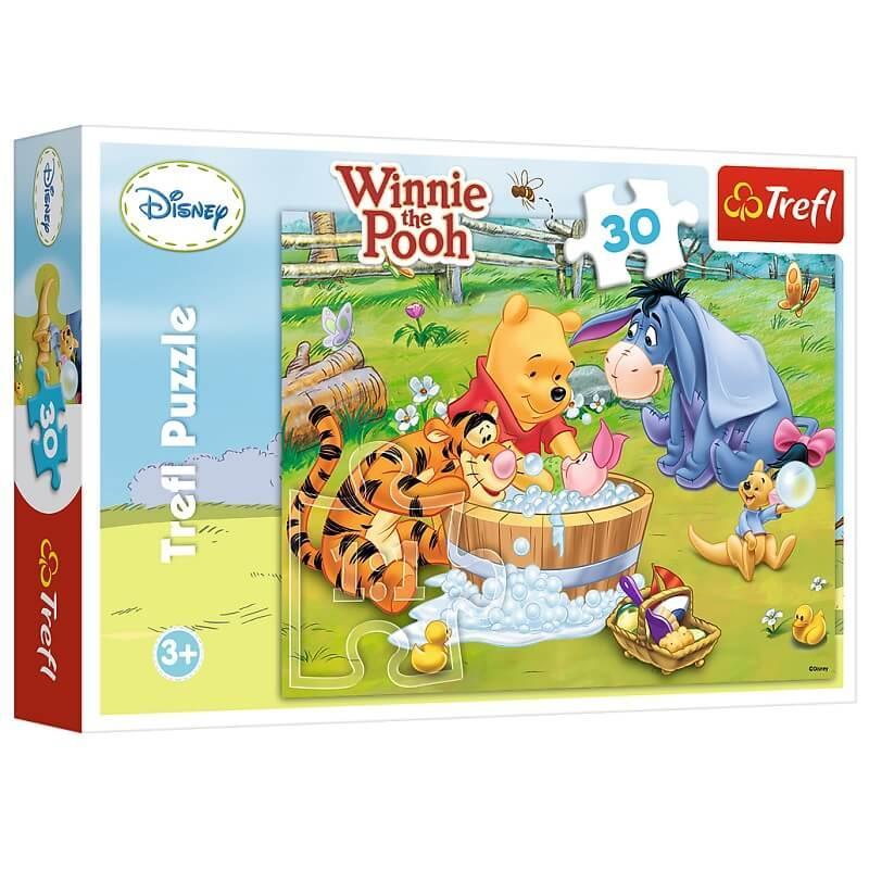 Puzzle winnie l ourson autour du bain 30 pieces