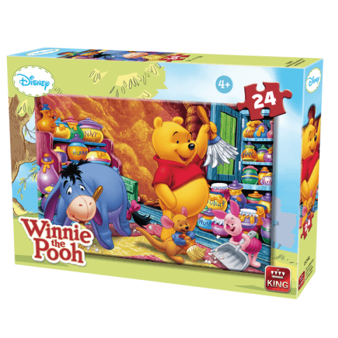 Puzzle winnie l ourson fait le menage
