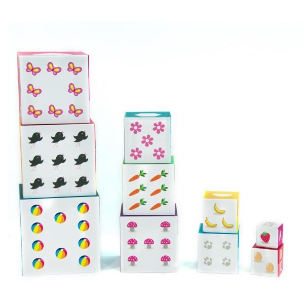 Pyramide 10 cubes educatifs apprendre a compter enfant