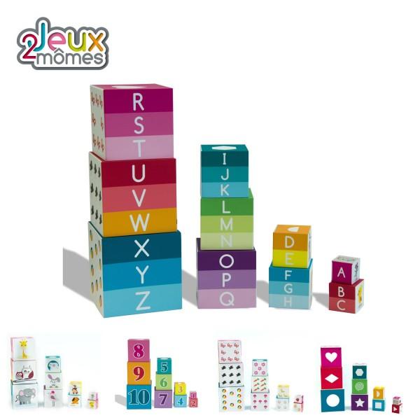 Pyramide 10 cubes enfant jouet educatif