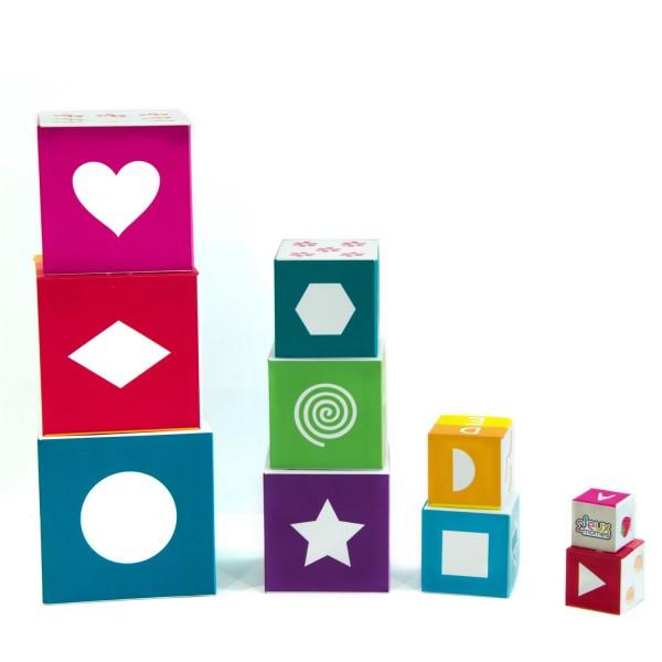Pyramide 10 cubes jeu educatif enfant formes