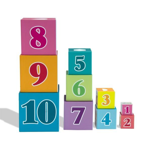 Pyramide 10 cubes jouet educatif enfant apprendre a compter