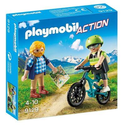 Cycliste et randonneur Playmobil
