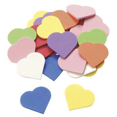 Sachet de 48 coeurs couleurs scrapbooking et loisirs creatifs