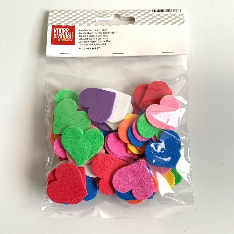 Scrapbooking coeurs creasoft couleurs 48 pieces