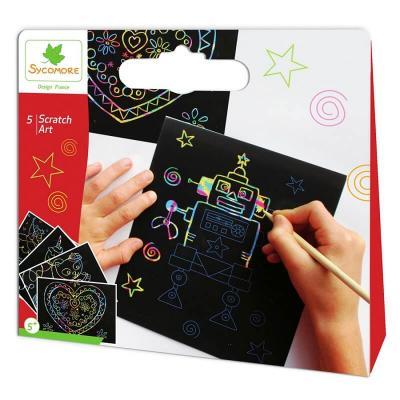 Kit Scratch Art - Pochette de loisirs créatifs enfant