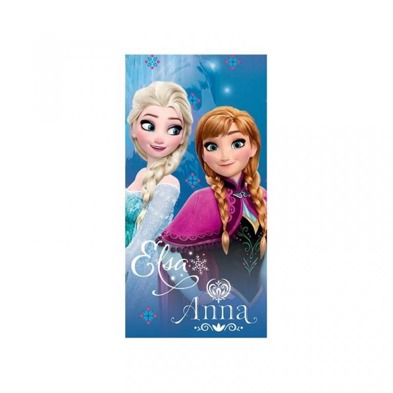 Serviette La reine des neiges avec Anna et Elsa