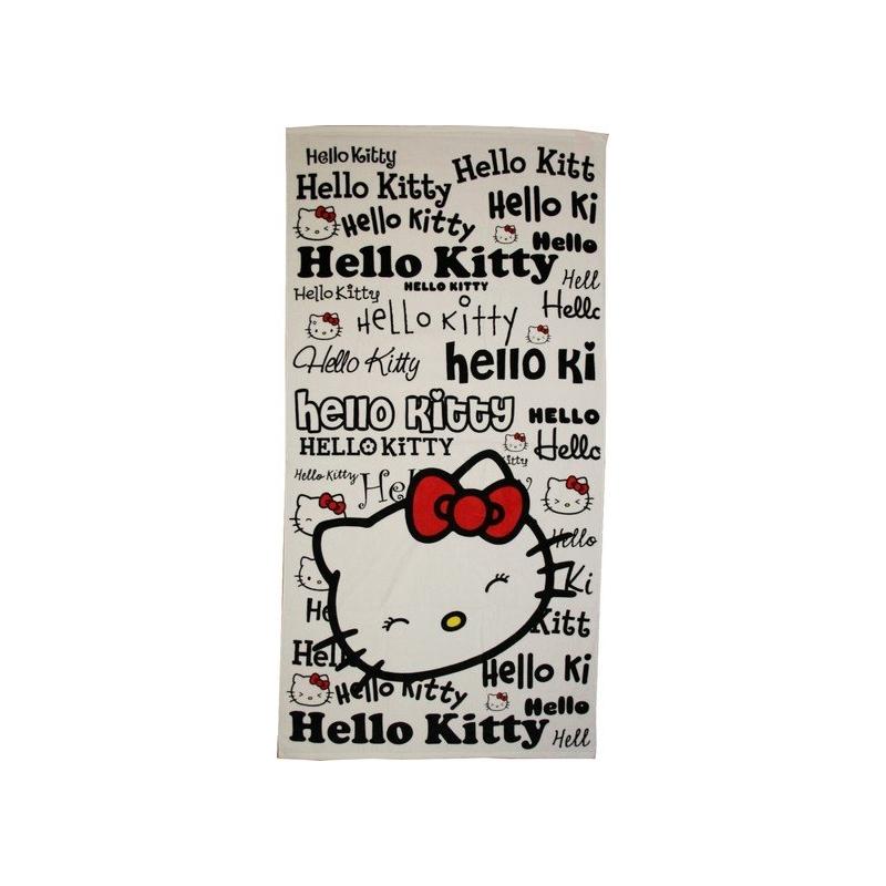 Serviette de plage ou drap de bain hello kitty en 320 gsm