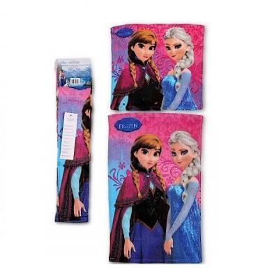 Set de 2 serviettes La reine des neiges pour les mains et multi-usages