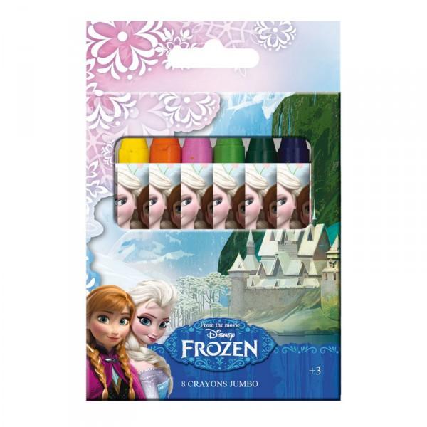 Set 8 crayons de couleur cire la reine des neiges