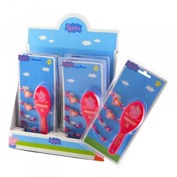 Set brosse peppa pig et accessoires cheveux peppa pig 5 pieces 8437007918403