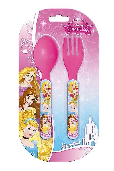 Set de 2 couverts en plastique princesses 1
