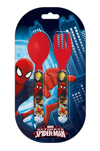 Set de 2 couverts en plastique spiderman 1