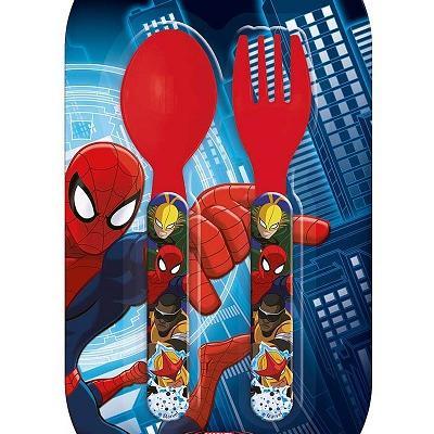 Kit de 2 couverts en plastique Spider-Man