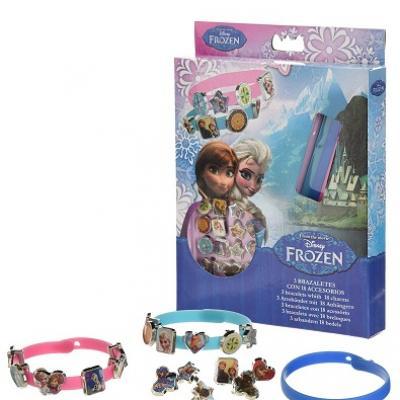 3 bracelets la reine des neiges et 18 breloques