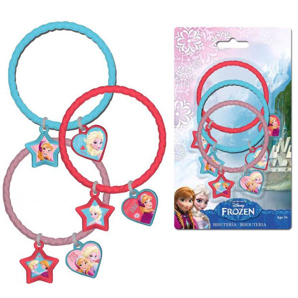 Set de 3 bracelets la reine des neiges licence disney