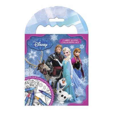 Carnet de coloriage La reine des neiges 64 pages et 5 crayons