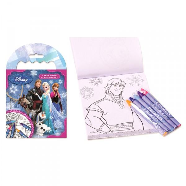 Set de coloriage La reine des neiges Disney et crayons