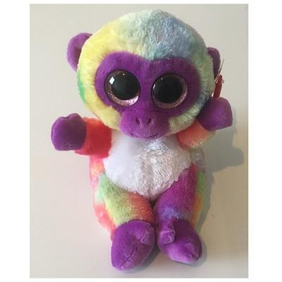 Peluche singe multicolore aux gros yeux Animotsu Keel Toys