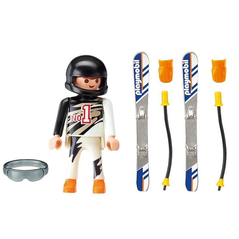 Skieur alpin playmobil et ses accessoires