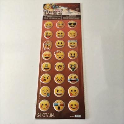 Stickers autocollants emoji de visages par 24