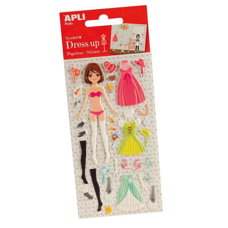 Stickers fille et habits dress up scarlett