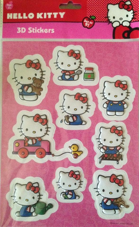 Stickers hello kitty en 3d 3
