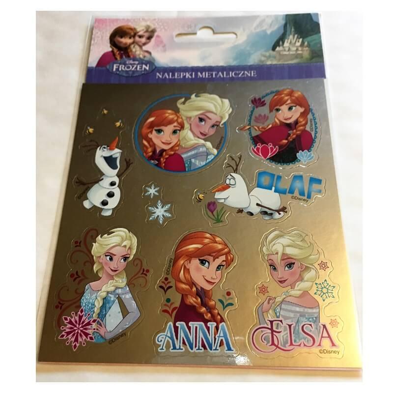Stickers la reine des neiges et carte la reine des neiges version 1