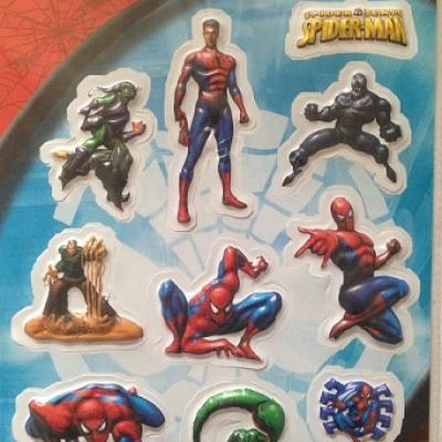 Set de 9 Stickers Spider-Man en 3D