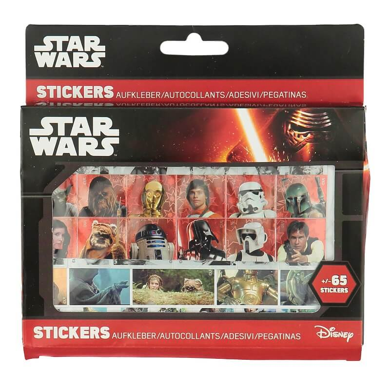 Stickers star wars ensemble de 65 autocollants