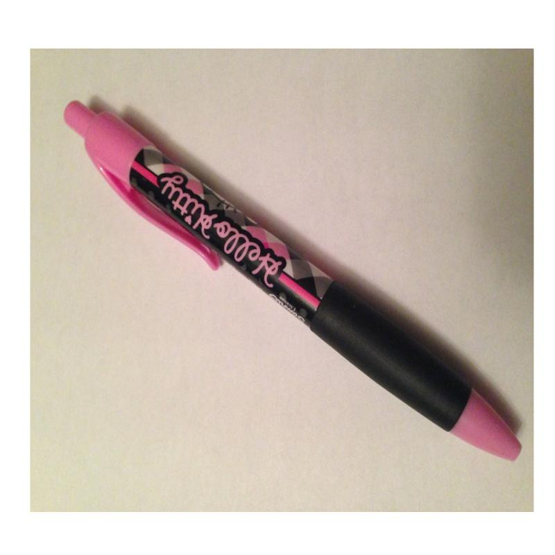 Stylo bille hello kitty enfant rose et noir