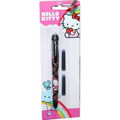 Stylo plume Hello kitty avec 2 cartouches