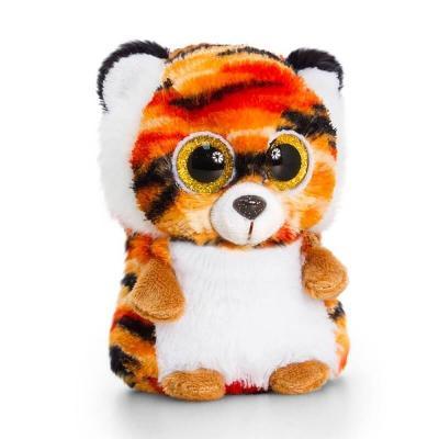 Tigre peluche gros yeux minimotsu keel toys