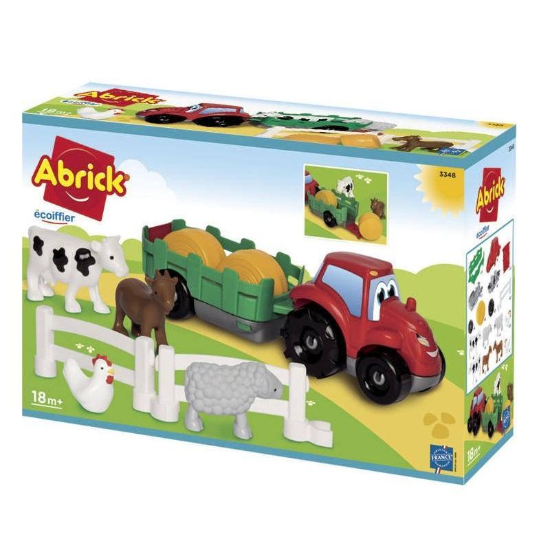 Tracteur et animaux de la ferme abrick ecoiffier
