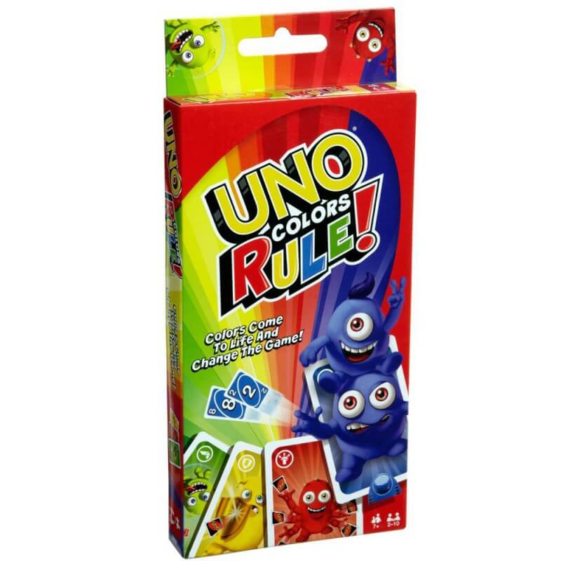 Uno colors rule jeu de cartes de societe mattel 1