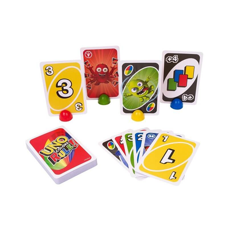 Uno colors rule jeu de cartes mattel