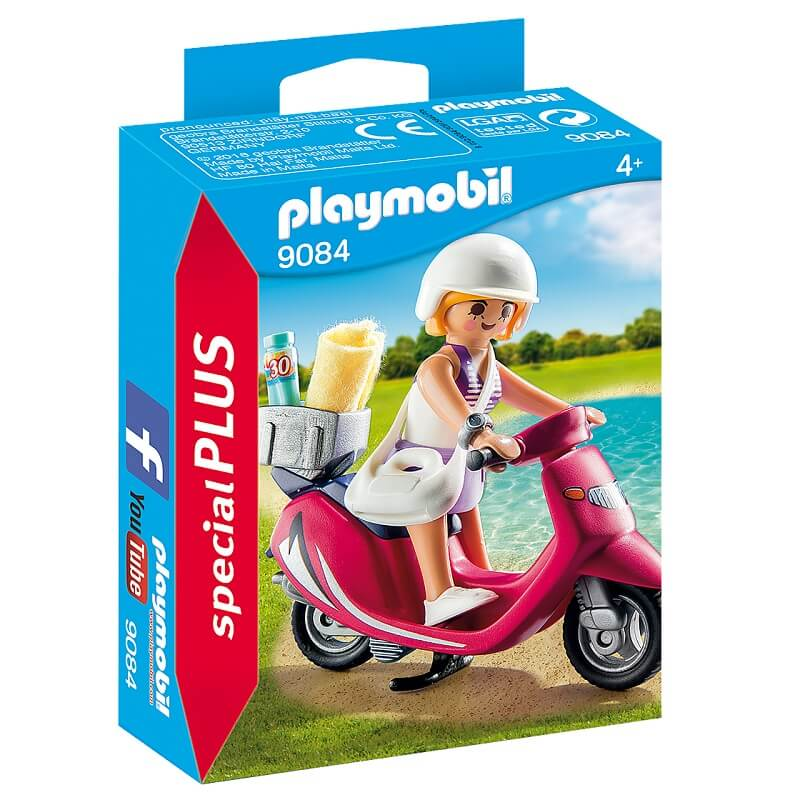 Vacanciere avec scooter playmobil