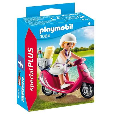 Vacancière en scooter Playmobil