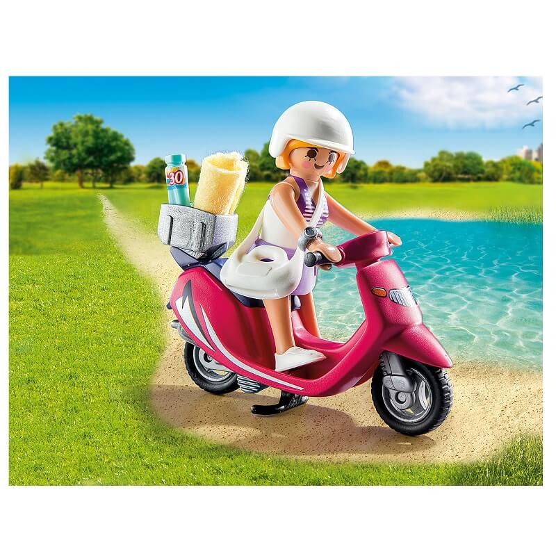 Vacanciere en scooter playmobil