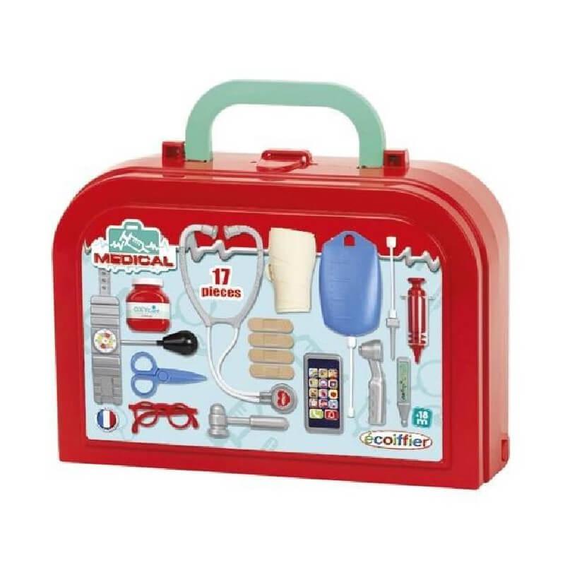 Valisette de docteur 17 pieces jouet fabrique en france