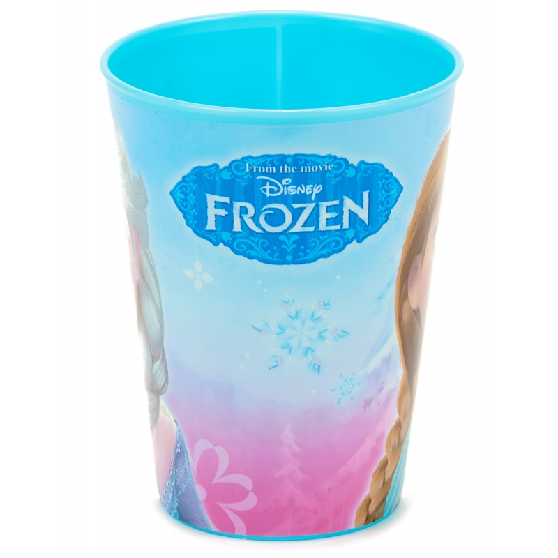 Verre plastique la reine des neiges cadeau fille reutilisable 2