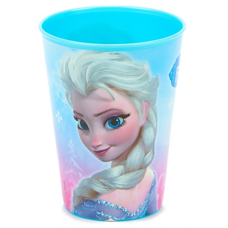 Verre plastique la reine des neiges cadeau fille reutilisable