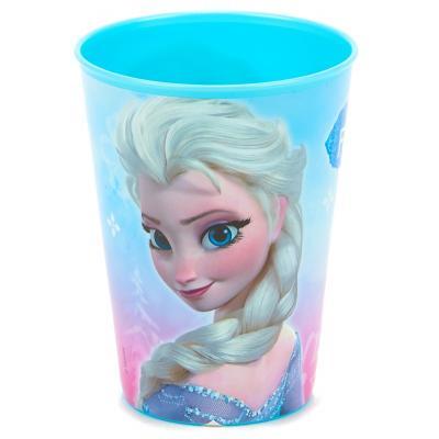 Verre La reine des neiges avec Anna et Elsa en plastique alimentaire