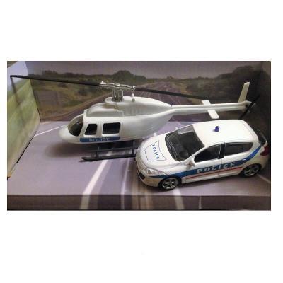 Voiture de police et hélicoptère Mondo Motors échelle 1/43